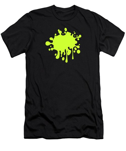 Solid Electric Lime Color Men's T-Shirt (Slim Fit) by Garaga Designs