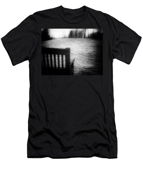 Solitary Bench In Winter Men's T-Shirt (Athletic Fit)