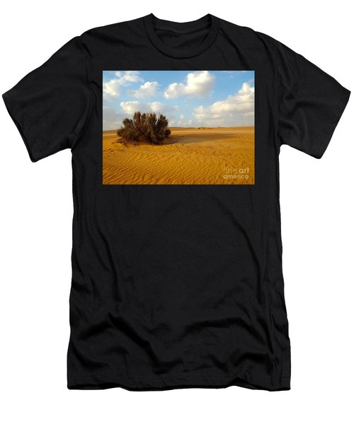 Men's T-Shirt (Athletic Fit) featuring the photograph Solitary Shrub by Barbara Von Pagel