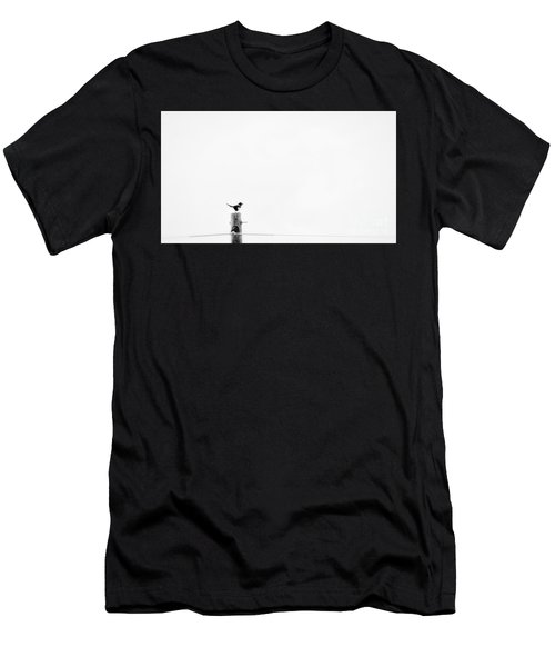 Men's T-Shirt (Athletic Fit) featuring the photograph Solitude by Bitter Buffalo Photography