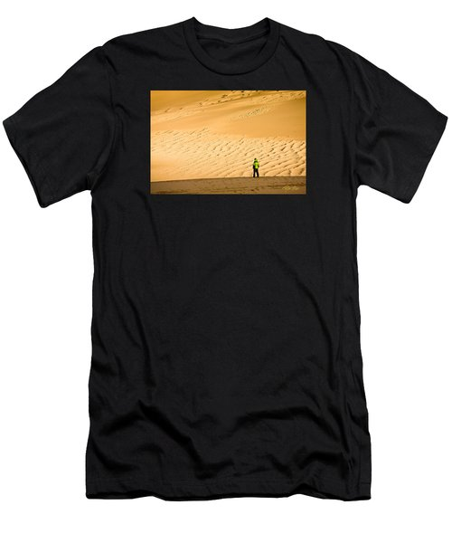 Men's T-Shirt (Athletic Fit) featuring the photograph Solitude In The Dunes by Rikk Flohr