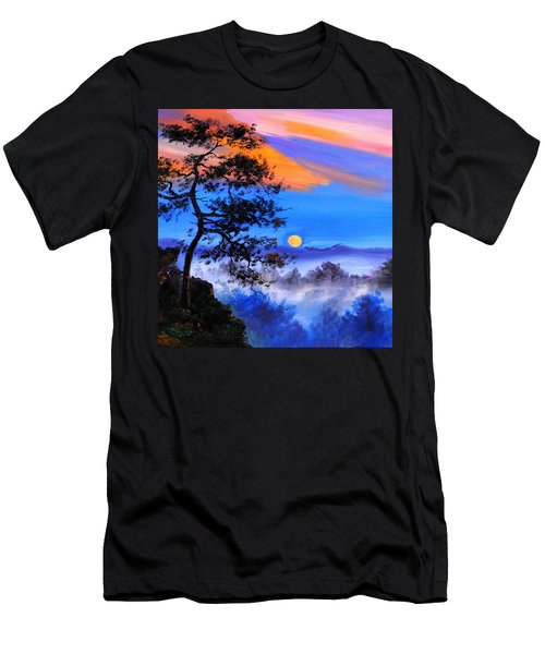 Men's T-Shirt (Slim Fit) featuring the painting Solitude by Karen Showell