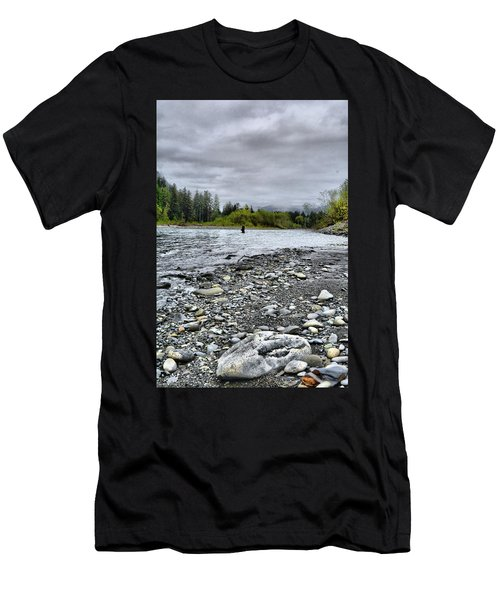 Solitude On The River Men's T-Shirt (Athletic Fit)
