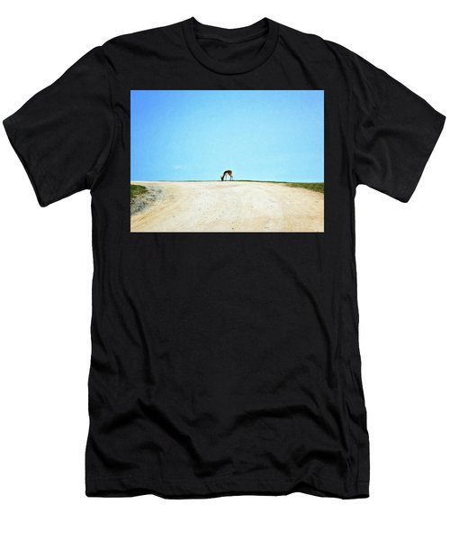 Men's T-Shirt (Athletic Fit) featuring the digital art Solitude by Sue Collura