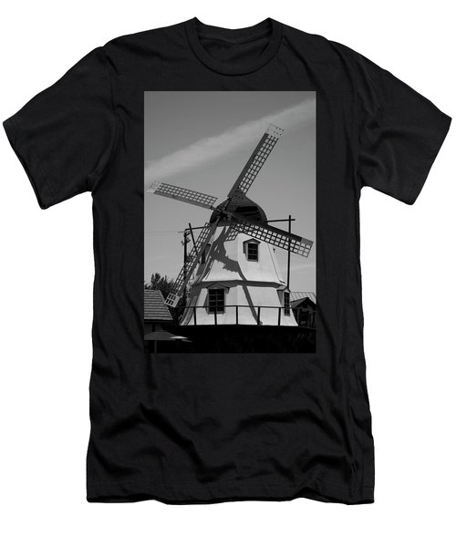 Solvang Windmill Men's T-Shirt (Athletic Fit)