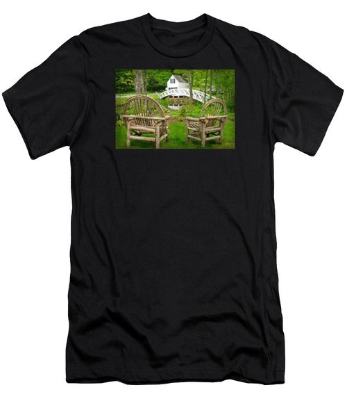 Somesville Maine - Arched Bridge Men's T-Shirt (Athletic Fit)