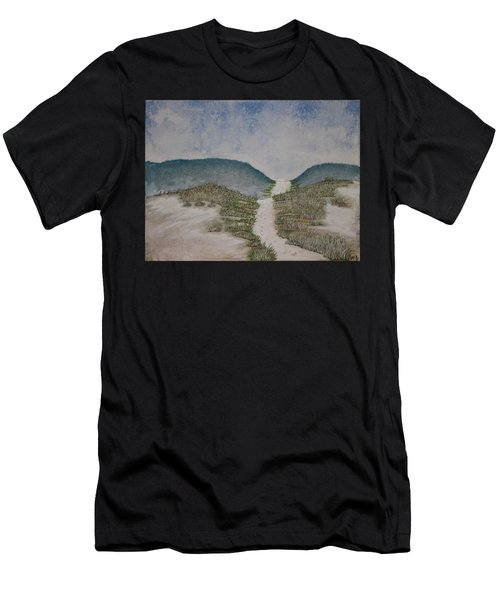 Men's T-Shirt (Athletic Fit) featuring the painting Somewhere In Florida by Antonio Romero