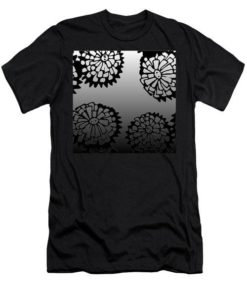 Sonchus In Black Men's T-Shirt (Athletic Fit)