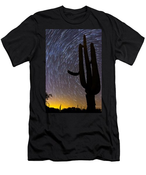 Sonoran Startrails - Reaching For The Stars Men's T-Shirt (Athletic Fit)