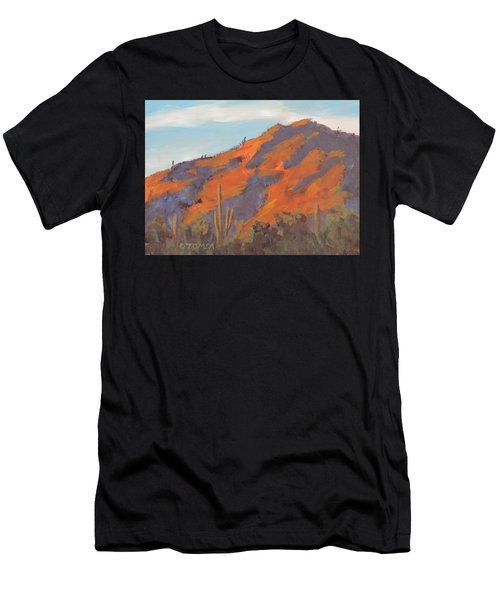 Sonoran Sunset - Art By Bill Tomsa Men's T-Shirt (Athletic Fit)