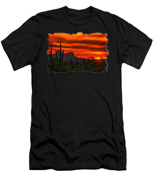 Men's T-Shirt (Athletic Fit) featuring the photograph Sonoran Sunset H38 by Mark Myhaver