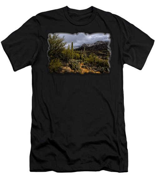 Men's T-Shirt (Athletic Fit) featuring the photograph Sonoran Winter No.1 by Mark Myhaver