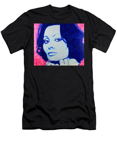 Sophia Loren Pop Art Portrait Men's T-Shirt (Athletic Fit)
