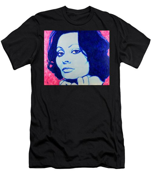 Sophia Loren Pop Art Portrait Men's T-Shirt (Athletic Fit)