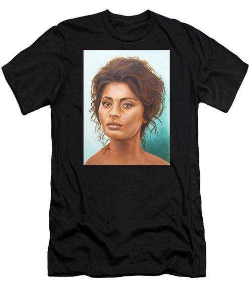 Sophia Loren Men's T-Shirt (Athletic Fit)