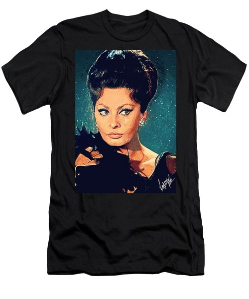 Sophia Loren Men's T-Shirt (Athletic Fit)