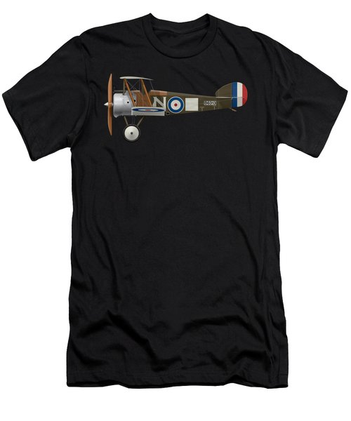 Sopwith Camel - B6313 March 1918 - Side Profile View Men's T-Shirt (Athletic Fit)