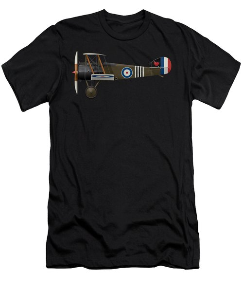 Sopwith Camel - B6313 June 1918 - Side Profile View Men's T-Shirt (Athletic Fit)
