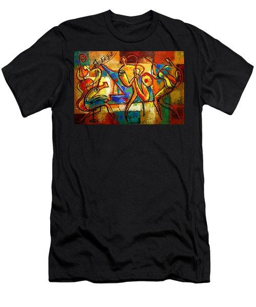 Soul Jazz Men's T-Shirt (Slim Fit) by Leon Zernitsky