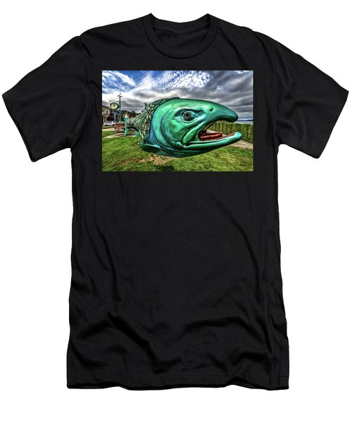 Soul Salmon In Hdr Men's T-Shirt (Athletic Fit)