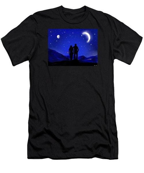 Men's T-Shirt (Slim Fit) featuring the digital art Soulmates by Bernd Hau