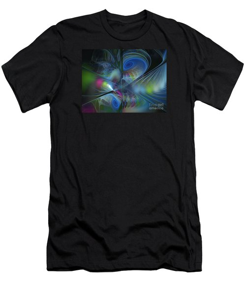 Men's T-Shirt (Slim Fit) featuring the digital art Sound And Smoke by Karin Kuhlmann