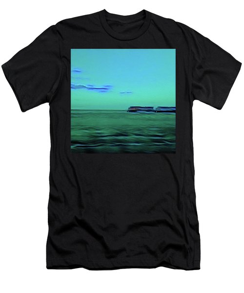 Sound Of A Train In The Distance Men's T-Shirt (Athletic Fit)