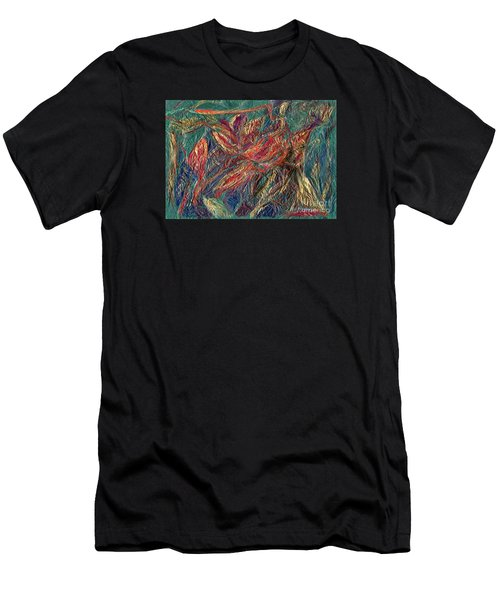 Sounds Of The Forest Men's T-Shirt (Slim Fit) by Veronica Rickard
