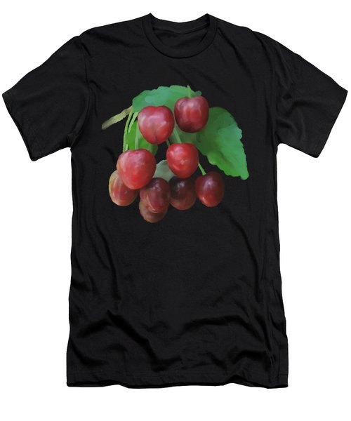 Men's T-Shirt (Athletic Fit) featuring the painting Sour Cherry by Ivana Westin