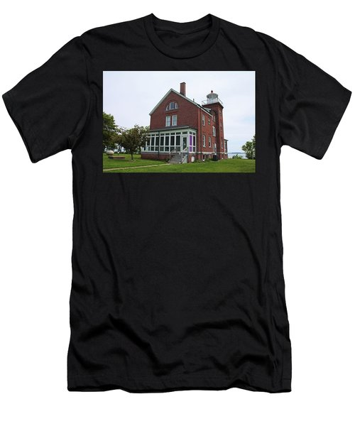 South Bass Island Lighthouse- Horizontal Men's T-Shirt (Athletic Fit)