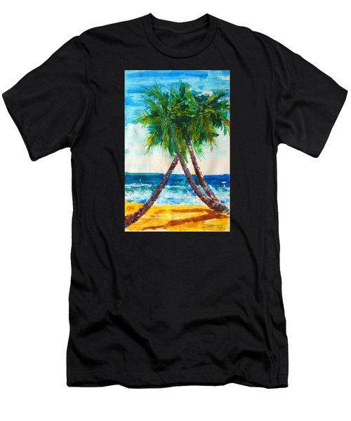 South Beach Palms Men's T-Shirt (Athletic Fit)