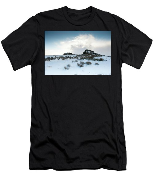 South Hessary Tor In The Snow II Men's T-Shirt (Athletic Fit)