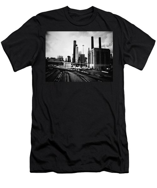 South Loop Railroad Yard Men's T-Shirt (Athletic Fit)