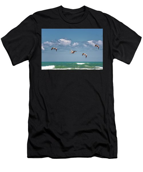 South Padre Island Pelicans Men's T-Shirt (Athletic Fit)