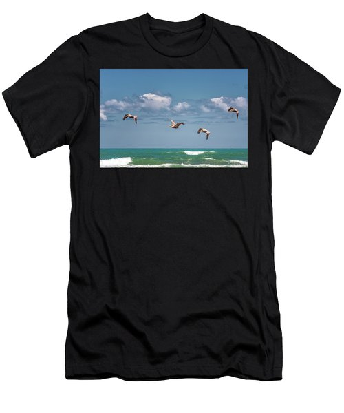 South Padre Island Pelicans Men's T-Shirt (Athletic Fit)