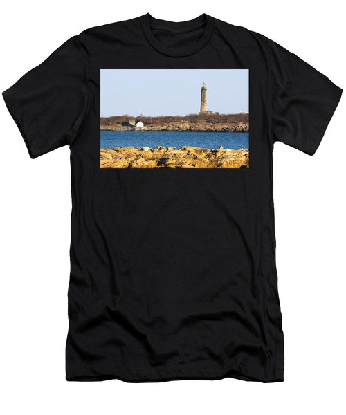 South Tower-thatcher Island Men's T-Shirt (Athletic Fit)