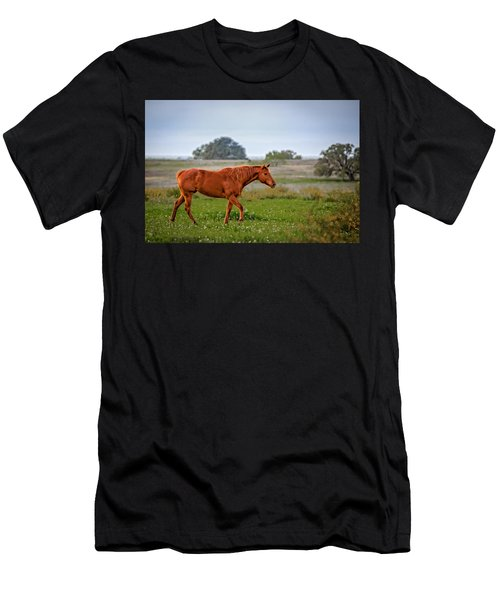 Men's T-Shirt (Athletic Fit) featuring the photograph Southern Field by Melinda Ledsome