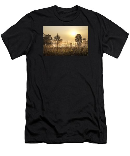 Southern Michigan Foggy Morning  Men's T-Shirt (Athletic Fit)