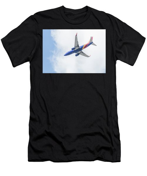 Southwest Airlines With A Heart Men's T-Shirt (Athletic Fit)