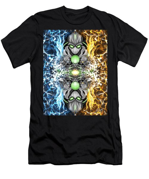 Space Alien Time Machine Fantasy Art Men's T-Shirt (Athletic Fit)