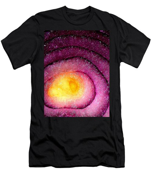 Space Allium Men's T-Shirt (Slim Fit) by Danielle R T Haney