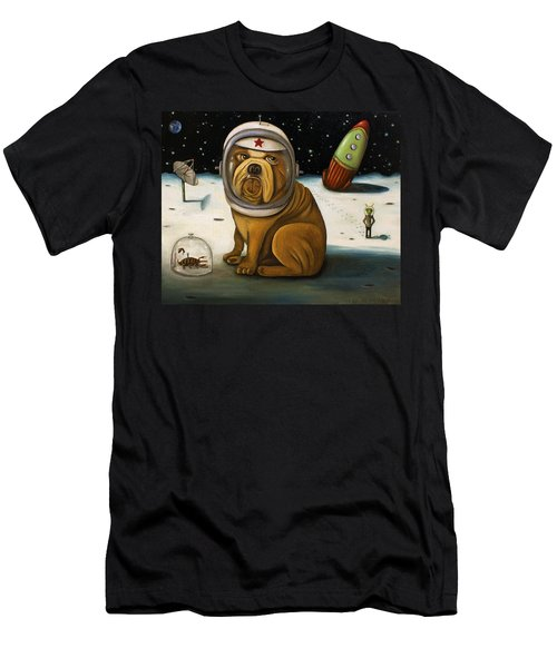 Space Crash Men's T-Shirt (Slim Fit) by Leah Saulnier The Painting Maniac