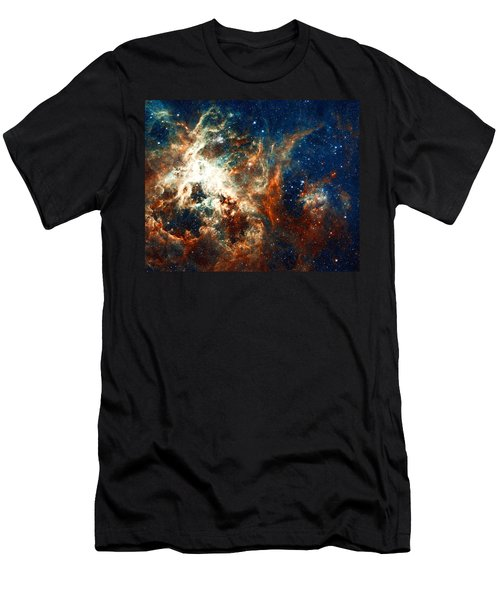 Space Fire Men's T-Shirt (Athletic Fit)