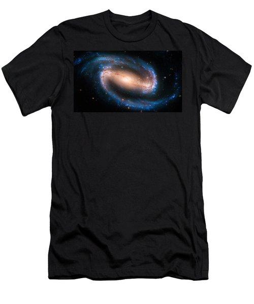 Space Image Barred Spiral Galaxy Ngc 1300 Men's T-Shirt (Slim Fit) by Matthias Hauser