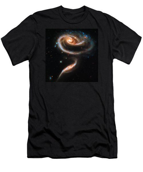 Space Image Galaxy Rose Men's T-Shirt (Athletic Fit)