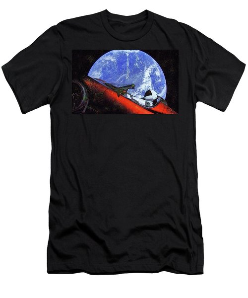 Space Meeting At Tesla Men's T-Shirt (Athletic Fit)