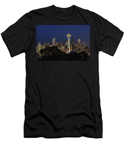 Space Needle Men's T-Shirt (Slim Fit) by David Chandler
