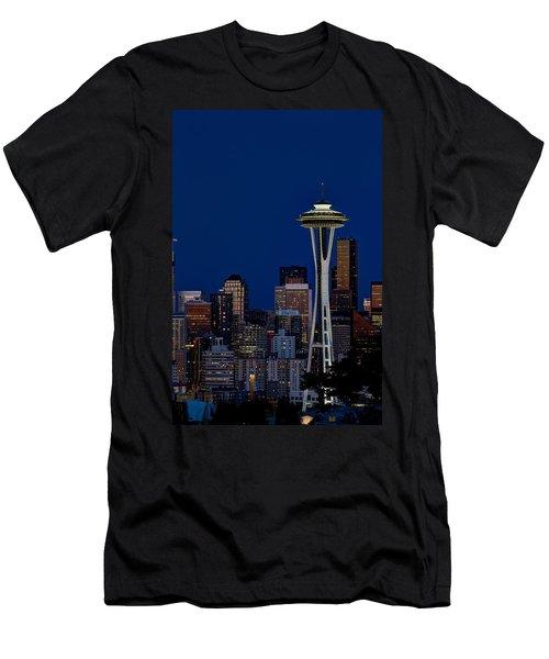 Space Needle Men's T-Shirt (Athletic Fit)
