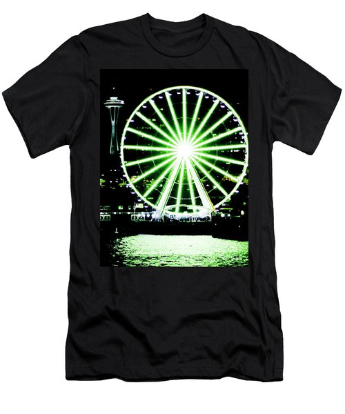 Space Needle Ferris Wheel Men's T-Shirt (Athletic Fit)