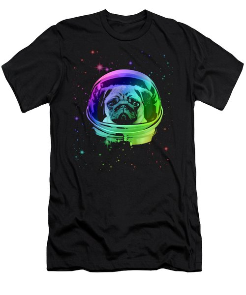 Space Pug Men's T-Shirt (Athletic Fit)